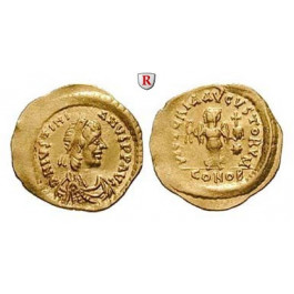 Byzanz, Justinian I., Tremissis 527-565, vz