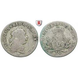 Baden, Baden-Durlach, Carl Friedrich, 10 Kreuzer 1769, ss