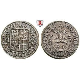 Brandenburg-Preussen, Kurfürstentum Brandenburg, Georg Wilhelm, 1/24 Taler 1625, vz