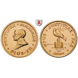 Vatikan, Pius XII., Goldmedaille o.J., 7,15 g fein, vz