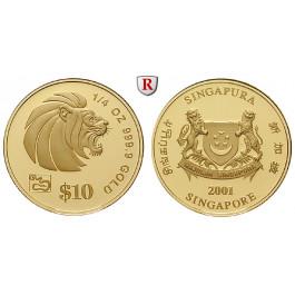 Singapur, 10 Dollars 2001, 7,77 g fein, PP
