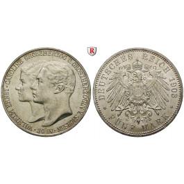 Deutsches Kaiserreich, Sachsen-Weimar-Eisenach, Wilhelm Ernst, 5 Mark 1903, Hochzeit mit Caroline, A, ss-vz/vz, J. 159