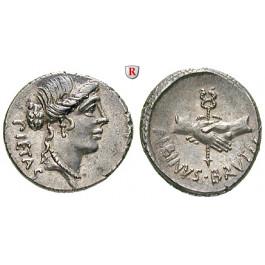 Römische Republik, D. Iunius Brutus Albinus, Denar 48 v.Chr., vz/vz-st