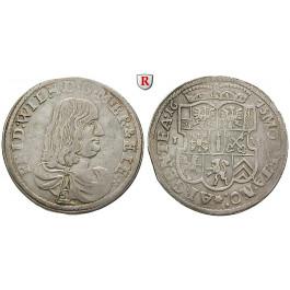 Brandenburg-Preussen, Kurfürstentum Brandenburg, Friedrich Wilhelm, 1/3 Taler 1673, ss