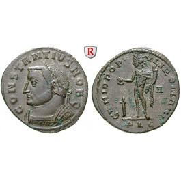 Römische Kaiserzeit, Constantius I., Caesar, Follis 301-303, vz