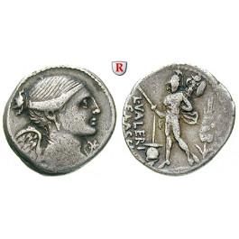 Römische Republik, L. Valerius Flaccus, Denar 108/107 v.Chr., ss