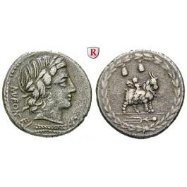 Römische Republik, Mn. Fonteius, Denar 85 v.Chr., ss