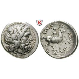 Makedonien, Königreich, Philipp II., Tetradrachme 355-348 v.Chr., ss+