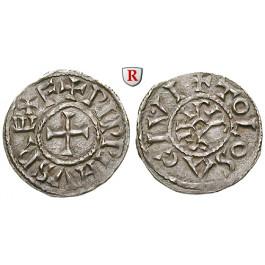 Karolinger, Pippin I./Pippin II. von Aquitanien, Denar, ss-vz