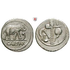Römische Republik, Caius Iulius Caesar, Denar 49-48 v.Chr., ss-vz