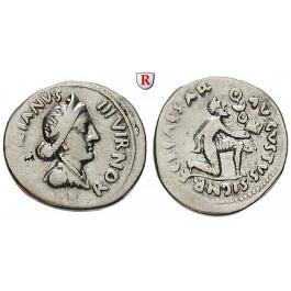 Römische Kaiserzeit, Augustus, Denar 19 v.Chr., ss