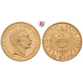 Deutsches Kaiserreich, Preussen, Wilhelm II., 20 Mark 1894, A, vz, J. 252