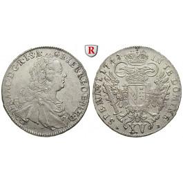 Römisch Deutsches Reich, Franz I., 15 Kreuzer 1748, ss-vz/vz