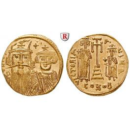 Byzanz, Constans II. und Constantinus IV., Solidus 661-663, vz+