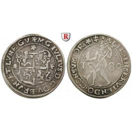 Braunschweig, Braunschweig-Wolfenbüttel, Julius, 1/4 Reichstaler 1580, ss