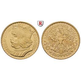 Polen, 2. Republik, 20 Zlotych 1925, 5,81 g fein, vz+