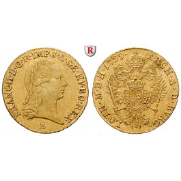 Österreich, Kaiserreich, Franz II. (I.), Dukat 1799, 3,44 g fein, ss-vz