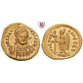 Byzanz, Anastasius I., Solidus 491-498, f.st