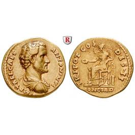 Römische Kaiserzeit, Antoninus Pius, Caesar, Aureus 138, f.vz/ss+