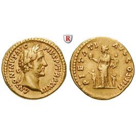 Römische Kaiserzeit, Antoninus Pius, Aureus 159-160, ss+