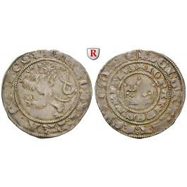 Böhmen, Königreich, Johann I. von Luxemburg, Prager Groschen o.J., ss-vz