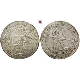 Braunschweig, Braunschweig-Wolfenbüttel, August der Jüngere, Reichstaler 1663, ss-vz