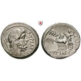 Römische Republik, P. Hypsaeus, Denar 60 v.Chr., vz