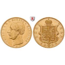 Braunschweig, Königreich Hannover, Georg V., 10 Taler 1854, ss-vz