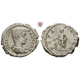 Römische Kaiserzeit, Geta, Caesar, Denar 205, vz+