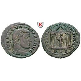 Römische Kaiserzeit, Maxentius, Follis 307, f.vz