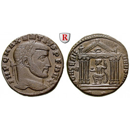 Römische Kaiserzeit, Maxentius, Follis 308-310, vz+
