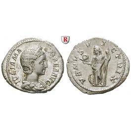 Römische Kaiserzeit, Julia Mamaea, Mutter des Severus Alexander, Denar 222, vz-st