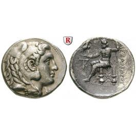 Makedonien, Königreich, Alexander III. der Grosse, Tetradrachme 285-275 v.Chr., vz/ss-vz