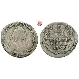 Russland, Katharina II., Grivennik (10 Kopeken) 1779, ss