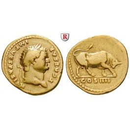 Römische Kaiserzeit, Titus, Caesar, Aureus 75, ss+