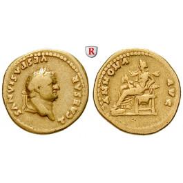 Römische Kaiserzeit, Titus, Caesar, Aureus 78-79, ss