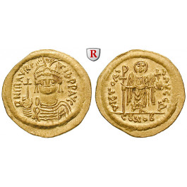 Byzanz, Mauricius Tiberius, Solidus 583-602, vz