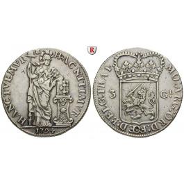 Niederlande, Utrecht, 3 Gulden 1794, ss-vz