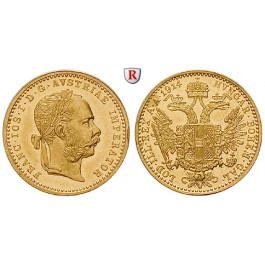 Österreich, Kaiserreich, Franz Joseph I., Dukat 1914, 3,44 g fein, vz