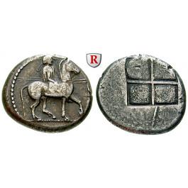 Makedonien, Königreich, Alexander I., Tetradrachme 492-480 v.Chr., ss+