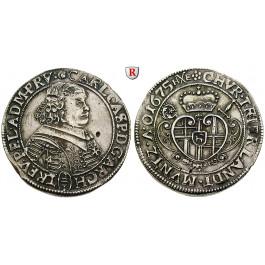 Trier, Bistum, Karl Kaspar von der Leyen, 2/3 Taler 1675, ss-vz