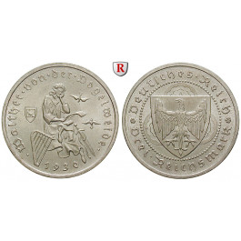 Weimarer Republik, 3 Reichsmark 1930, Vogelweide, A, vz-st, J. 344