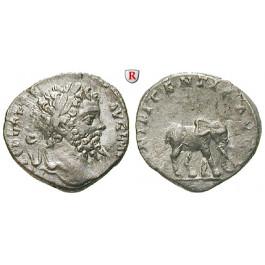 Römische Kaiserzeit, Septimius Severus, Denar 196-197, ss+