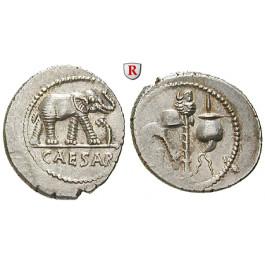 Römische Republik, Caius Iulius Caesar, Denar 49-48 v.Chr., vz