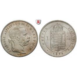 Ungarn, Franz Joseph I., Forint 1875, vz
