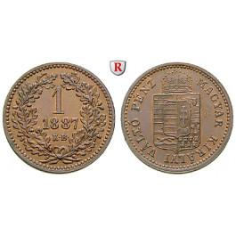 Österreich, Kaiserreich, Franz Joseph I., Kreuzer 1887, vz