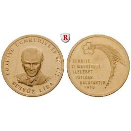 Türkei, 500 Lira 1973, 5,5 g fein, vz+