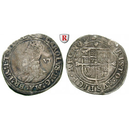 Grossbritannien, Charles I., Sixpence, ss