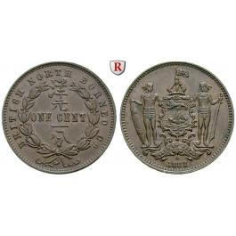Britisch-Nordborneo, Cent 1882, vz-st