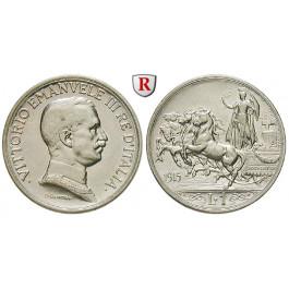 Italien, Königreich, Vittorio Emanuele III., Lira 1915, ss-vz